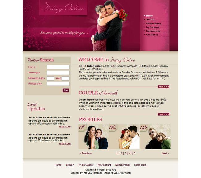 Знакомств дизайны для сайтов